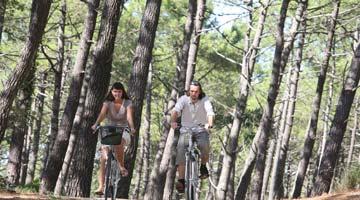 camping activité vélo landes