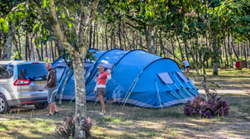 camping emplacement tente landes