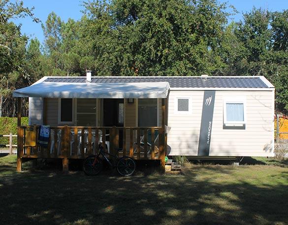 camping avec mobil-home famille dans les landes