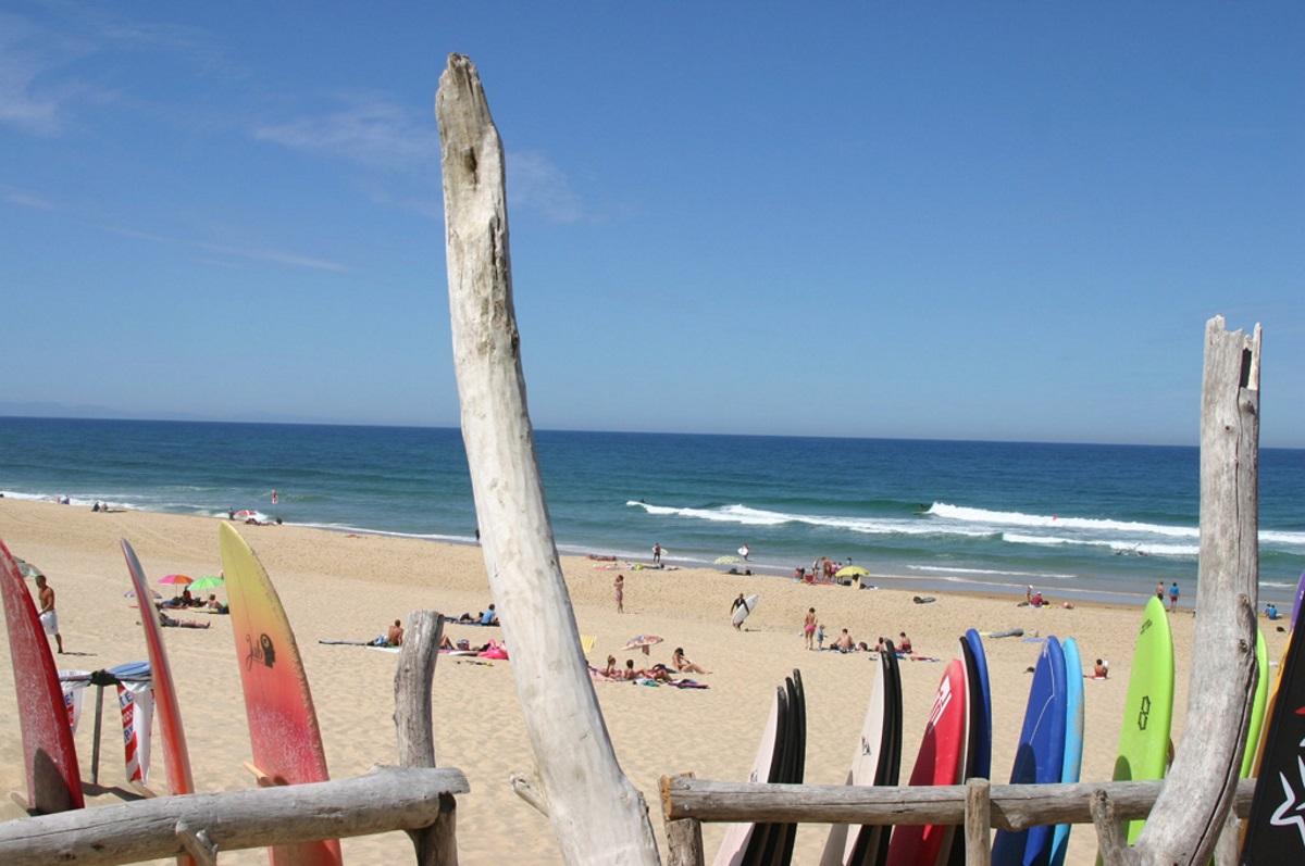 plage surf landes